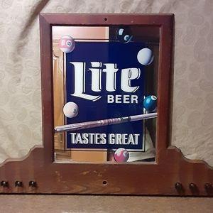 Vintage Miller Lite Tastes Great Mirror Display w/